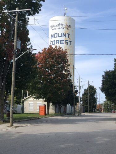 A photo of the Mount Forest tower.