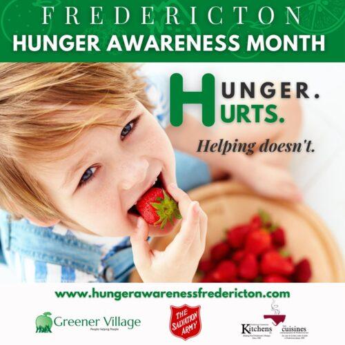 La campagne Hunger Hurts permet de sensibiliser la communauté à l'insécurité alimentaire.
