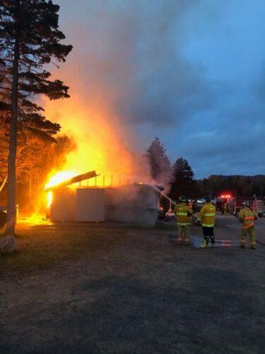 incendie à Ingonish Beach