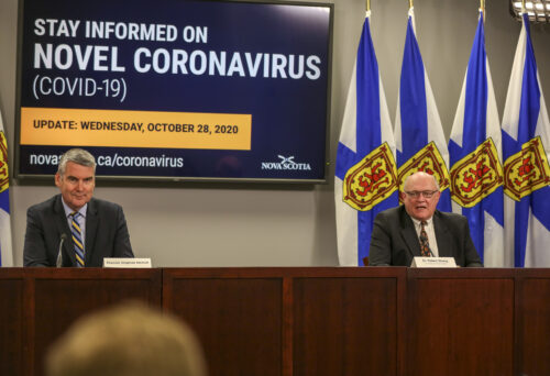 Premier Stephen McNeil and Dr. Robert Strang COVID-19 briefing October 28, 2020.