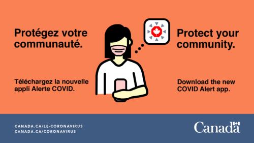 Bannière d'affichage numérique avec le slogan : Protégez votre communauté.