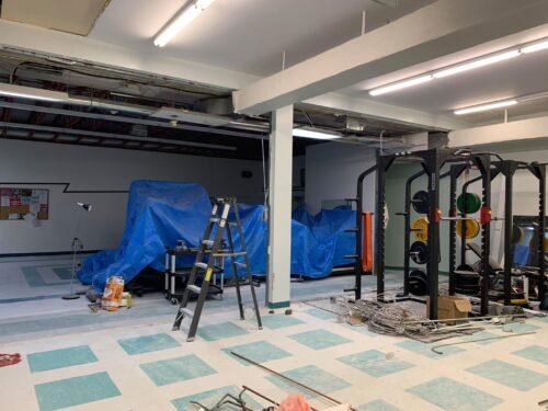 Le Cardi-O Centre durant les rénovations pendant la pandémie