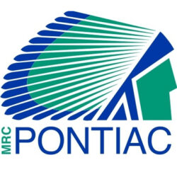 The blue and green logo of the MRC Pontiac