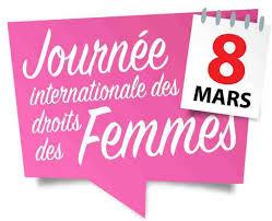 logo de la journée internationale pour les droits des femmes.
