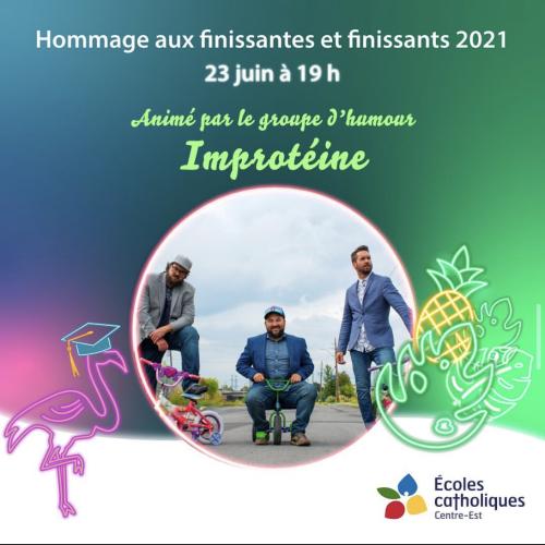 Pancarte pour l'hommage aux finissants 2021 (photo: instagram @ecolecatholique)