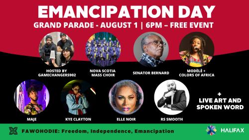 Photos et programmes des artistes qui se produiront sur Grand-Parade le 1er août.