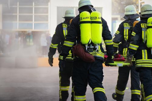 Pompiers en opération