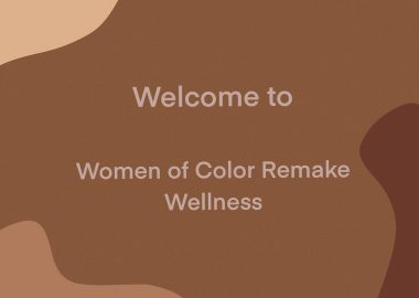 A multicoloured graphic of the Women of Color Remake Wellness logo.