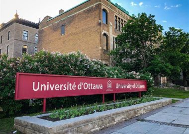 The exterior of a University Ottawa building and sign.