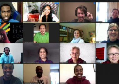 A Zoom meeting of the staff of the Social Planning Council of Ottawa.