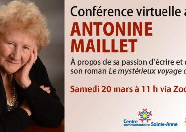 Conférence virtuelle avec Antonine Maillet