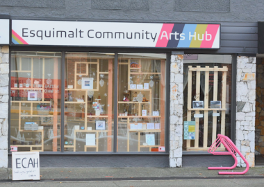 La devanture du Esquimalt Community Arts Hub