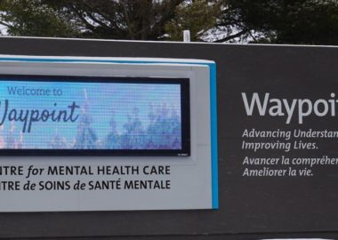 Le centre Waypoint pour soins en santé mentale, à Penetanguishene. Image : Andrew Philips/MidlandToday