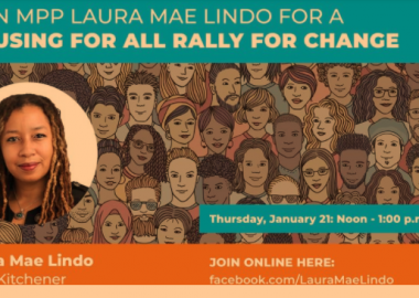 A poster for NDP MPP Laura Mae Lindo's digital