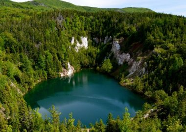 le lac de la Mine de plâtre