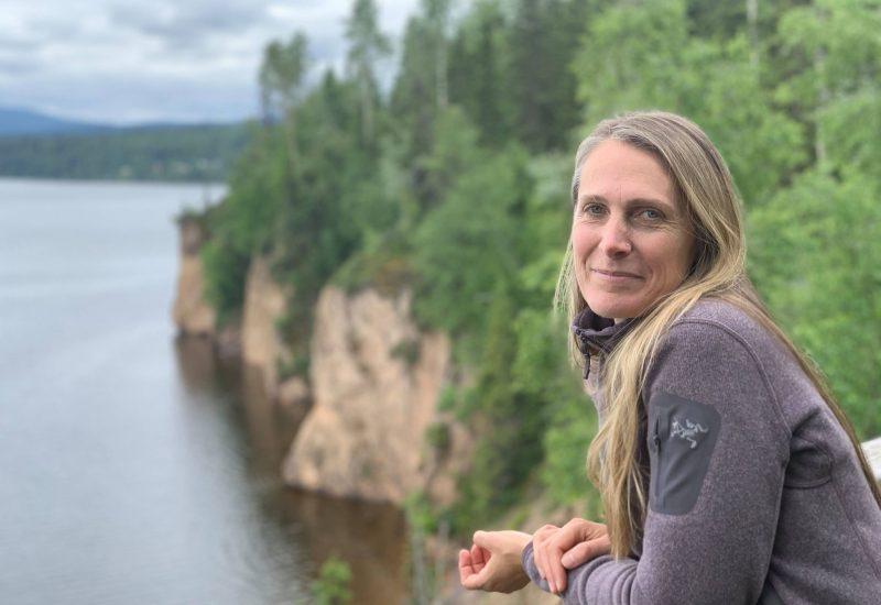 Amanda Follett-Hosgood near the Red Bluff in Northern BC.