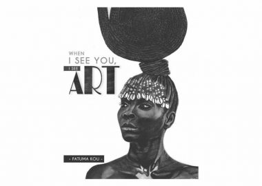 The black and white cover of When I See You I See Art with Fatuma Kou featured
