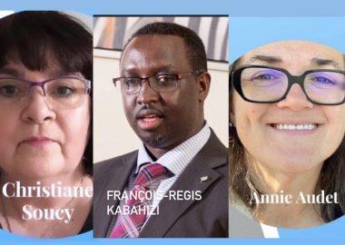 Trois des candidats aux élections générales des députés communautaires de L'ACF. Photo:Facebook