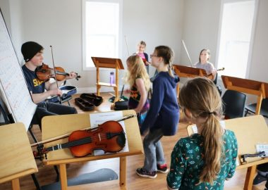 La musique et la danse au Collège gaélique.