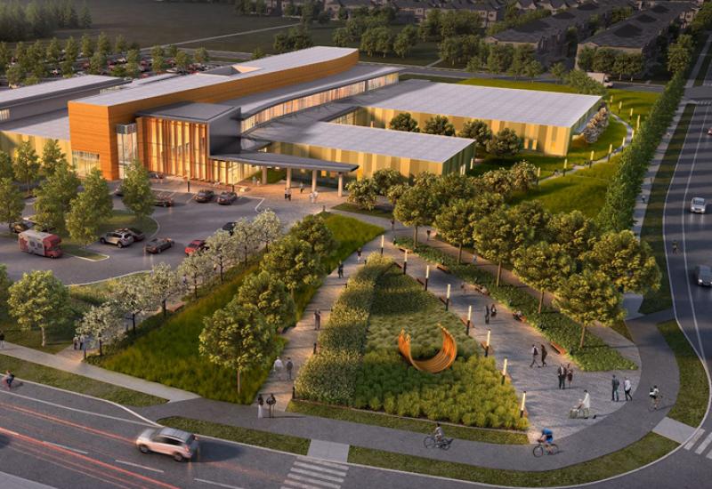 Image en 3D du bâtiment du Carrefour de santé Orléans