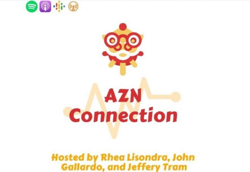 Azn Connection podcast logo against a white background.