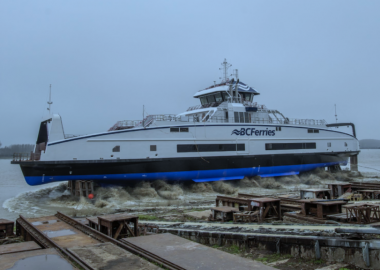 Ferry destined for Campbell River-Quadra Island route