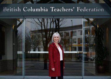 Teri Mooring, President of the British Columbia Teachers' Federation   Photo courtesy TWITTER/BCTF