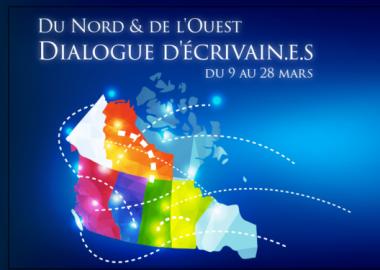 Carte géographique du Canada avec le titre de l'évènement
