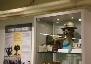 A photo of the new Cold War bunker exhibit in Nelson.