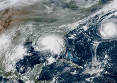 Paulette et Sally, les deux premiers ouragans de cette série à remonter le long des côtes américaines. Photo : NOAA