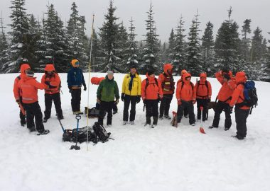 Comox Valley Search and Rescue members train for avalanche rescue      Photo courtesy Comox Valley SAR