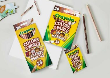 Pic showing some packs of crayons from Crayola's new colors of the World range