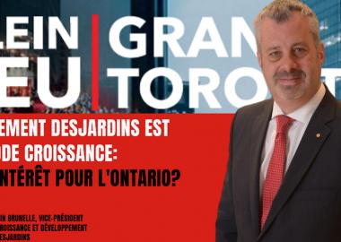 Martin Brunelle est le vice-président Acquisition, Croissance et développement du Mouvement Desjardins