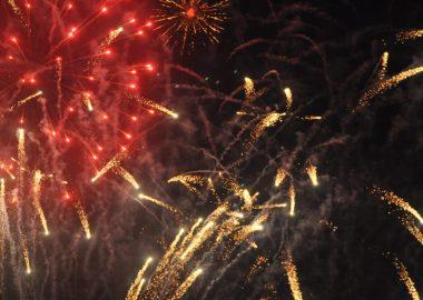 Fireworks captured at the 2017 Mount Forest Fireworks Festival.