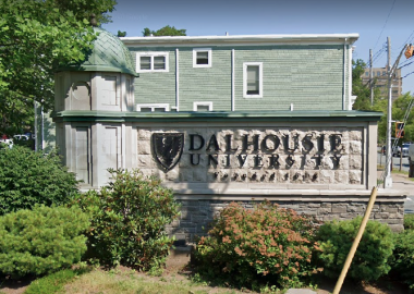 The exterior of Dalhousie University on a sunny day in Halifax