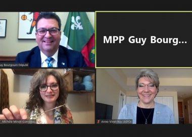Le député Guy Bourgouin et ses invités sur Zoom