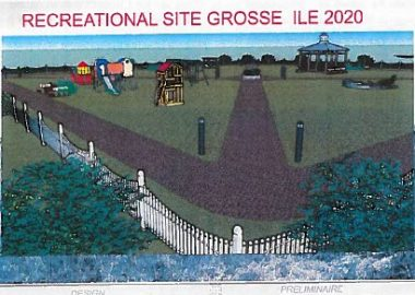 A photo of the planned Intergenerational Park in Grosse Ile.