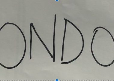 Picture showing gondola in letters