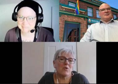 A screenshot of three people in a Zoom meeting. Ashley Legere, Lloyd Bruce, and Debby Warren are all visible.