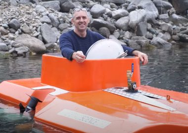 Hank Pronk builds and tests his homemade submarines in the Kootenays. Courtesy of Hank Pronk/Youtube.