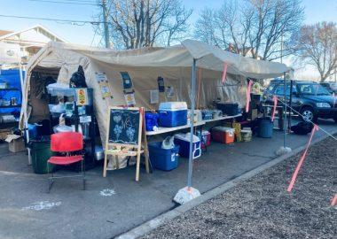 Une tente pour les sans-abris
