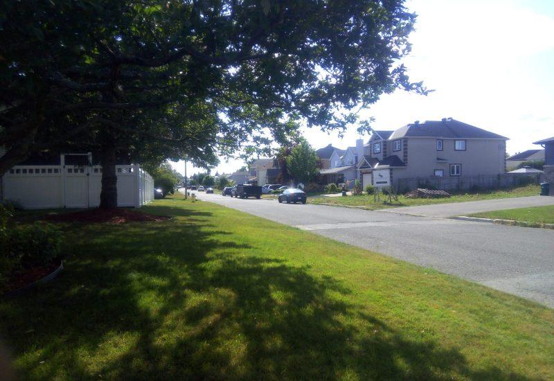 Maisons dans un quartier d'Ottawa