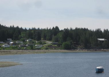 A photo of the Klahoose village coast.
