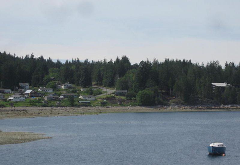 A photo of the Klahoose village coast.