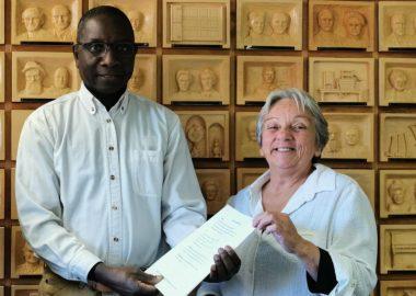 Soraya Ellert (à droite)  et Ousmane Ilbo Mahamane (à gauche). Credit photo: Prairie FM