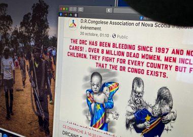 La communauté congolaise à Halifax appelle à la mobilisation pour dénoncer les crimes qui se passent en RDC. Photo : Valentin Alfano
