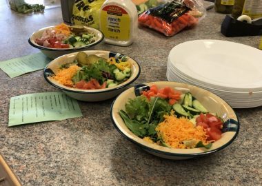 A nutricious lunch served to students at St. John Bosco Catholic School in Guelph, provided by the Foods and Friends program.