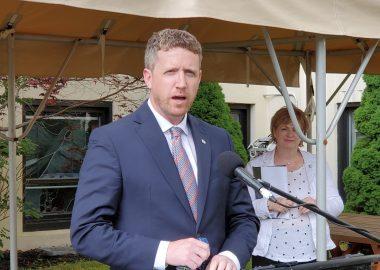 Premier Iain Rankin in Lunenburg