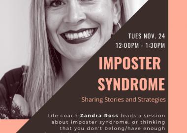 A poster for Zandra Ross' presentation at Inspiring Women Among Us.