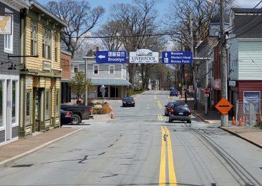 A picture of the Main Street Liverpool, Nova Scotia.